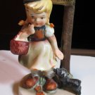 "NAPCO JAPAN VINTAGE FIGURINE "" Inseparable"" AH1H Little Girl & Dog"