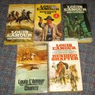 Lot of (5) Louis L'Amour Paperbacks Western