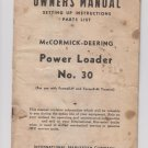 McCormick-Deering Power Loader No. 30 Manual - 1946