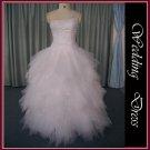 Spaghetti Lace Ruffle Stain Elegant Silver Bridal Wedding Dresses