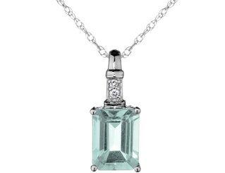 Aquamarine Pendant Silver