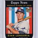 2008 Topps_EVAN LONGORIA Rookie Card/RC~08~2006~06~RAYS