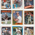 10x 1982-1991 Topps CAL RIPKEN JR. Card Lot~'82-91~1983