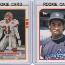 2x 1989 Topps_DEION SANDERS Rookie Card/RC Lot~'89~DEON