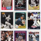 9x YANKEES Card Lot BABE RUTH~DEREK JETER~MICKEY MANTLE