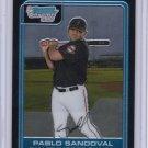 2006_Chrome_ PABLO SANDOVAL Rookie Card/RC~'06~2008~'08