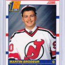 1990-91 Score Canadian MARTIN BRODEUR Rookie Card/RC~90