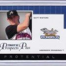 2007 TriStar_MATT WIETERS Rookie/RC Card~'07~2009~09~08