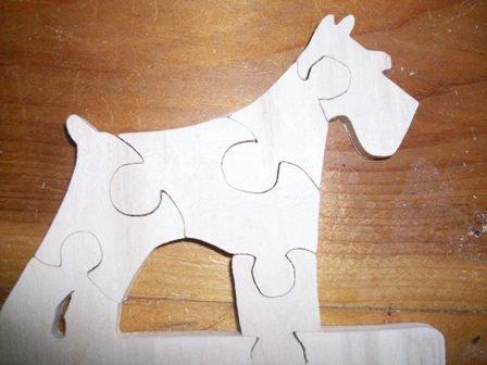 Schnauzer wooden jigsaw puzzle