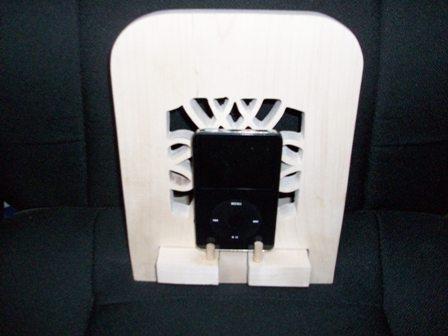 Wooden I pod holder