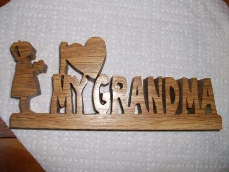 Wooden I love my Grandma display sign