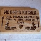 Wooden Mothers Kitchen wall hanging