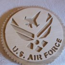 Wooden US Air Force wall hanging plaque