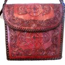 Amazing Medium Brown Hand Tooled Full Grain Leather Concealed Carry Handbag!