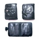AWESOME TOOLED LEATHER SKULL CROSS ROCKER WALLET!