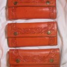 AWESOME SADDLE TAN CUSTOM HAND TOOLED LEATHER WALLET!