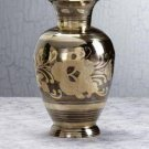 29363 Home Delight's Medium Brass N Pewter Floral Vase