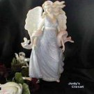 30286 Home Delights Pastel Blue Angel with Dove