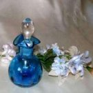 3115 Rainbow Ritz Blue Tri Spout Cruet & Stopper