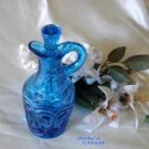 2700 L.E. Smith Colonial Blue Moon and Stars Cruet~SI