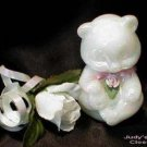3598 Fenton Pearly Sentiments Sitting Bear~FS