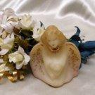 3630 QVC Fenton Floral Guardian Angel Bust~FS
