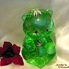 3597 Fenton Willow Green HP Sitting Bear Mint