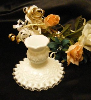 3436 Fenton Spanish Lace Candle Holder