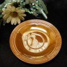 1077-1 Lustre Fire King Three Bands Saucer-SHIPPING INCLUDED
