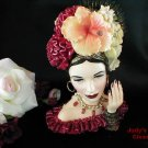 3594~Retired Rumba Beauty Cameo Girls Head Vase ~SI