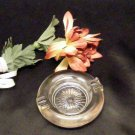 3786 Vintage Round Glass Individual Ashtray