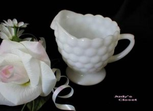 1605 Anchor Hocking Milk Glass Bubble Creamer
