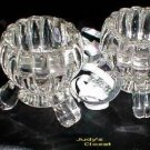 1214 Jeannette National Three Footed Candle Holders
