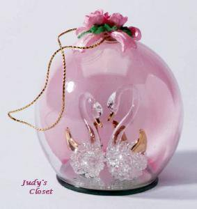 28208 Home Delights Swan Glass Ornament