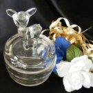 3774 Vintage Jeannette Fawn Powder Jar