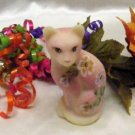 3751 Fenton Family Signature Burmese Floral Cat