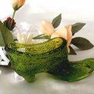 Degenhart Olive Green Daisy & Button Slipper 3572