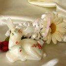 Fenton Winter Rose On Opal Carnival Fawn 3627