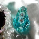 Fenton Backyard Buddy Blue Topaz Frog