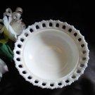 Westmoreland Milk Glass Open Lace Animal Dish Base Bowl