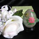 2929 Eglomise Asian Bird and Floral Decor Egg