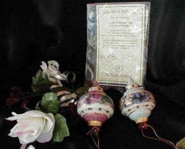 3582- Lena Liu Handpainted Ornament Set