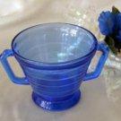 1177 Hazel Atlas Cobalt Moderntone Sugar Bowl