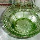 Jeannette 2974 Green Doric Berry Bowl