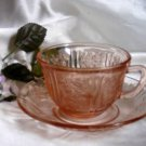 2174 Federal Sharon Cabbabe Rose Cup N Saucer Set