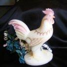 771 Fenton Folk Art Standing Ivory Satin Rooster