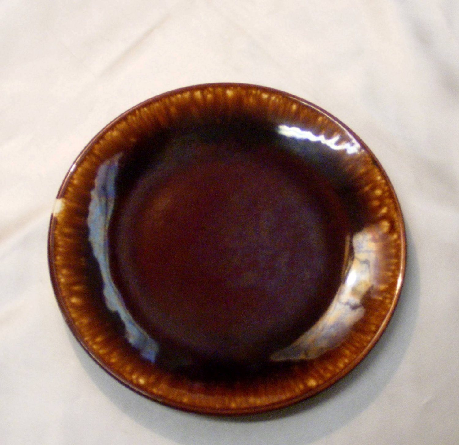 2452 McCoy Brown Drip Bread N Butter Plate