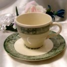 2387 Scio Currier & Ives Cup N Saucer Set