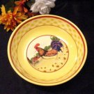 37698 Yellow Ceramic Glazed Rooster Serving Bowl