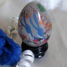 2928 Asian Decor Bird and Floral Egg